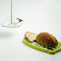 BRD - a bird feeder and a bread cutting board, to share your crumbs with the birds.