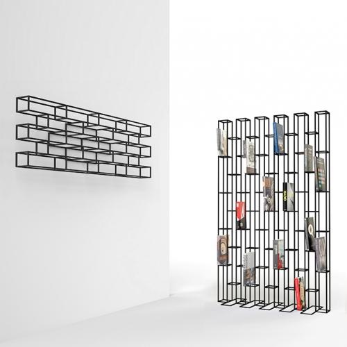 Bookrack series BRICKS designed by Gerard de Hoop for POLS POTTEN.