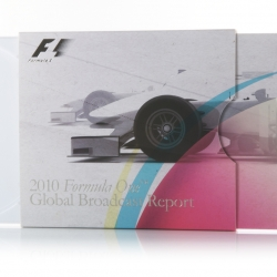 The Formula One™ 2010 Global Broadcast Report has been packaged by Burgopak in a sleek CD slider pack.