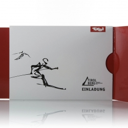 Austria's TirolBerg invitations for the 2011 Alpine Skiing World Championships - design by Burgopak