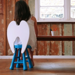 Mothers believe their children are little angels, especially on this stool. By Furf Design Studio.
