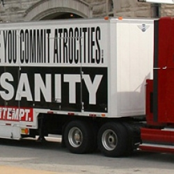 The Barbara Kruger Art Truck in New York.