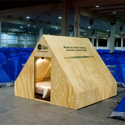 An oasis of wood in the middle of Nylon, mostly Campus Party in the world.