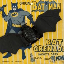 Amazing vintage Bat Grenade Batman Toy from circa 1966.