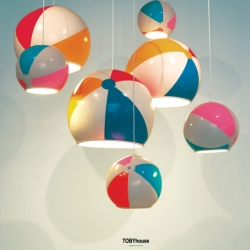 Beach Ball Lamp Shade by TOBYhouse, just one of the 'Most Creative Childhood Inspired Lamps.'