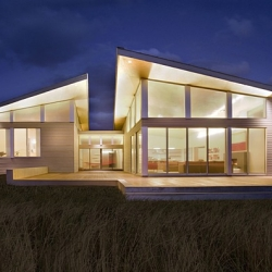 For a big family client, ZeroEnergyDesign  did a sustainable design of a house located in Cape Cod, Massachusetts. It is called Truro Residence.  It also has several sustainable features.