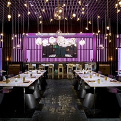 Sleek and intimate interiors by Shanghai-based interior designers Neri + Hu for the contemporary Asian  restaurant, Bei in Beijing.