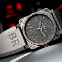 Infiniti collaborates with Bell & Ross to produce this special edition BR03-02 Instrument Phantom watch. According to Infiniti this watch commemorates the launch of the special edition Infiniti FX Limited Edition performance crossover.