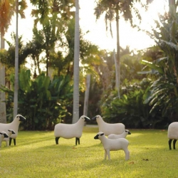 """Les Lalanne at Fairchild,"" the largest outdoor exhibition of works by French sculptors Claude and Francois-Xavier Lalanne in the U.S."
