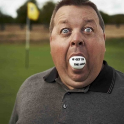 "More than 1,000 over-sized gobstoppers are being given out at this year's Ryder Cup by Betfair to silence the heckling and cries of ""get in the hole"" by the home US crowd"