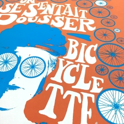 Brand new, super limited edition (20!) print by Portland artists BT Livermore and Michael Buchino—combines their loves for bikes, screen printing, French pop, psychedelic 60s poster art.