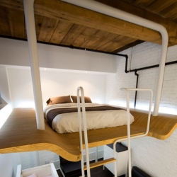 L. McComber Architects provided a design solution for the owners of this 700 square foot loft in Montreal, Canada.