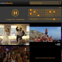 The YouTubeMasher is a quick and easy way to create audiovisual mashups from multiple youtube videos.