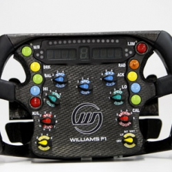 a collection of Formula 1 steering wheels on Oobject. Shows the user interfaces of modern formula 1 cars are quite different from those of modern street cars.