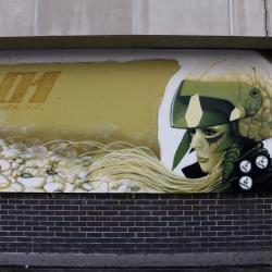 Bio helmet. Futuristic Art Sheffield UK by Rocket01.