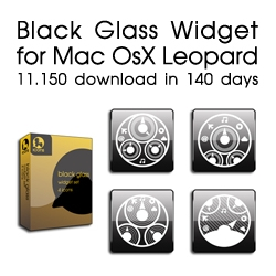 Black Glass Widget for Mac OsX Leopard - fun new icon pack!