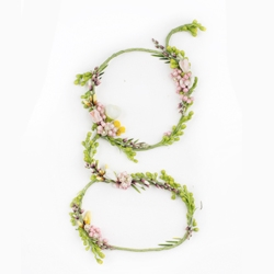 Alice Mourou's Blossom - alphabet made from natural blossoming flowers. All letters are hand crafted and photoshopped only for color correction.