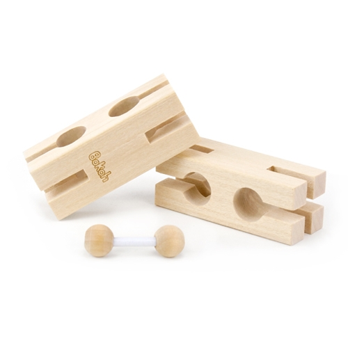 Bokah Blocks, construction toy that introduces flexible, interlocking joints into wooden building blocks. Experience a new way of building. Simple. Intuitive. Challenging. Beautiful.