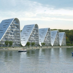 Designed by Henning Larsen Architects, The Wave is not just another new residential project. It is an ambitious project, a sculpture and a metaphor for the city of Vejle, Denmark.