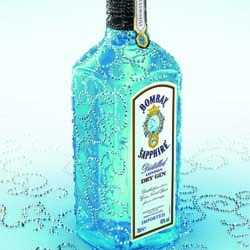 Bombay Sapphire Swarovski - splendid and refined job of arabesques in crystals