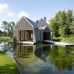 Located on the outskirts of Gent, Belgium's third-largest city, is this stunning private sanctuary done by Wim Goes Architectuur.