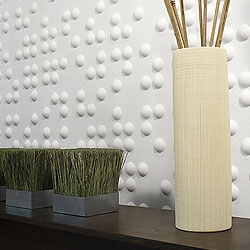 Check out these dimensional Wall Tiles from Inhabit. Made from bamboo pulp. Beautiful and eco-friendly.