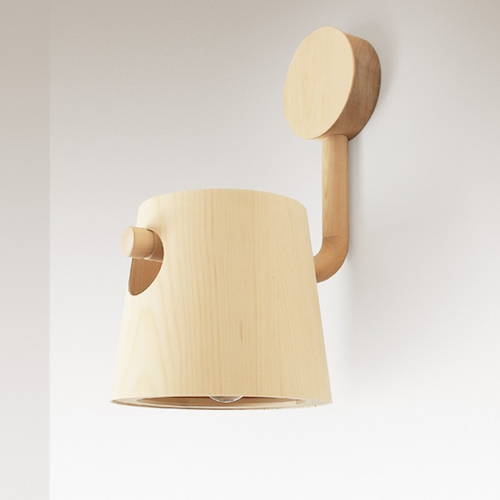 Bucket Wall Light by Pierre + Charlotte, designed and made in Tasmania, Australia, with timber only found in Tasmania.