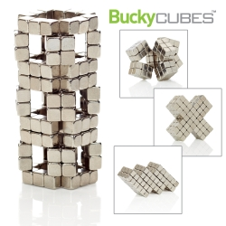 Buckyballs go cubed! The magnetic design/fidget toy just got even more structural in a fun, shiny, 8-bit kind of way.