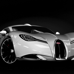 The Bugatti Gangloff Concept is a design study of a sleek supercar inspired by the 1938 Type 57 SC Atalante Coupe one-off by  Pawel Czyzewski.