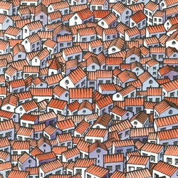 Little houses by freekhand