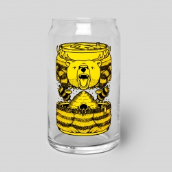 Upper Playground releases the Bumble Beer Glass Can with Art by Jeremy Fish.