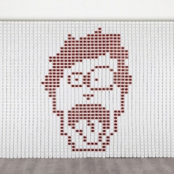 Amazing billboard realised for Burger King's Hot Sauce in Turkey by Young & Rubicam. It has been made of 2548 real packages.