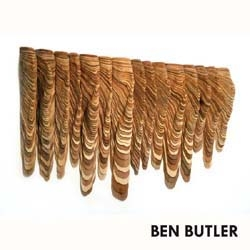 "BEN BUTLER, New Sculptures & Works on Paper .  ""Furrow"" cedar wood, 44""h. x 4""d. x 74""w., on view at Zg Gallery, Chicago"