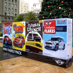 Currently spotted in Chicago and San Francisco, MINI family pack. Now with added adrenaline, by Butler, Shine Sterm & Partners.