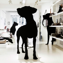 Giant Dogs at CLOUD 7 Pop-up-Store in cool  Scandinavian flagship store NORMANN COPENHAGEN. Full CLOUD 7 collections of sophisticated Dog Accessories are up until Oct. 21st.