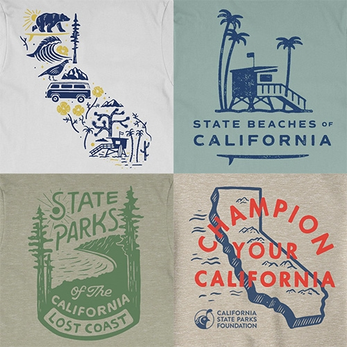 Parks Project X California State Parks Foundation collection have such great graphics celebrating our love for California!