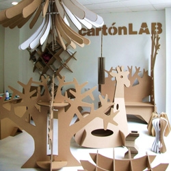 The guys at cartonLAB (part of Moho Architects in Murcia, Spain) create everything from toys and furniture to store displays and DJ stands from cardboard.