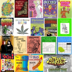 A round up of the coolest 30 coloring books for grown-ups or designers. From Indie Rock and Gangsta Rap to Adult Erotica, Religious Satire and even interior decor. Various publishers, but all affordable and fun!
