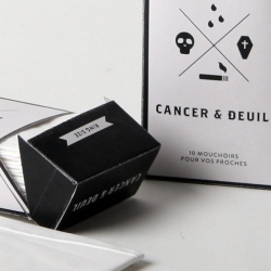 Hugo Varin designed this little box of Kleenex concept for those who have lost friends and and family because of tobacco.