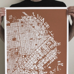 "CityFabric blends cartography and design to create bold, figureground map prints (1""=1000') that inspire conversations about your place!"