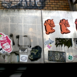 Urban Research: Tokyo covered in stickers.