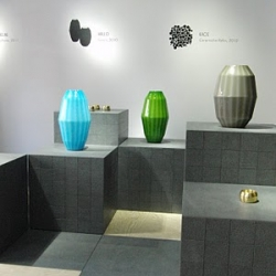 Arillo, lovely vases designed by Luca Nichetto, inspired by Italian glass pearls. Shown at Designgalleriet in Stockholm.
