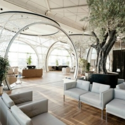 Take a gander at Autoban's new CIP lounge for Turkey's national airline, Turkish Airlines, which has just opened at the Ataturk Airport in Istanbul.