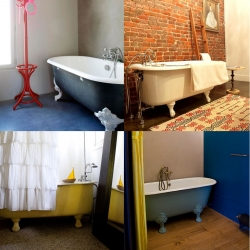 Design*Sponge capture some gorgeous claw footed bathtubs!