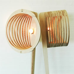 Lamp, from CNC furniture by Pelham Davey.