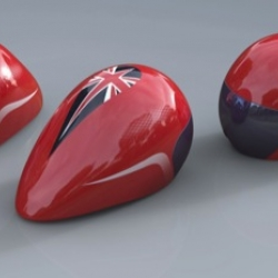 The UK cycling team are getting newly-designed helmets ahead of the London 2012 Olympic Games.