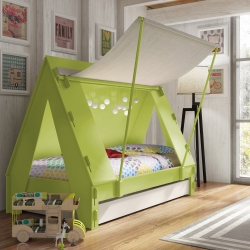 Kids Tent Cabin Bed by Mathy By Bols - sleep under the stars every night!