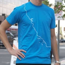 California Coast t-shirt by Orange Cake Tees