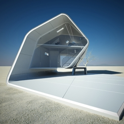 California Roll House by Christopher Daniel is a concept prefabricated housing that utilizes latest technologies.