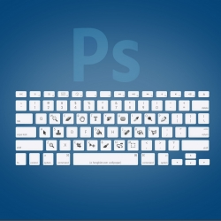 Wallpapers of the keyboard shortcuts for Adobe programs by Hongkiat.